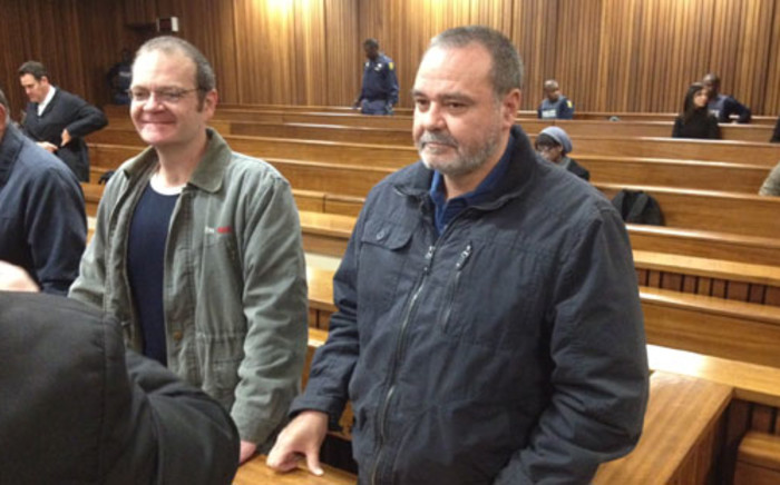 Boeremag accused Andre du Toit (left) and his brother accused Mike du Toit in court. Picture: Barry Bateman/EWN.