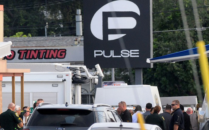 FILE: Orlando police officers seen outside of Pulse nightclub after a fatal shooting and hostage situation on June 12, 2016 in Orlando, Florida. Picture: AFP.