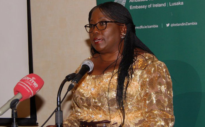 Former Zambian Community Development and Social Services minister Emerine Kabanshi. Picture: @IrelandinZambia/Twitter
