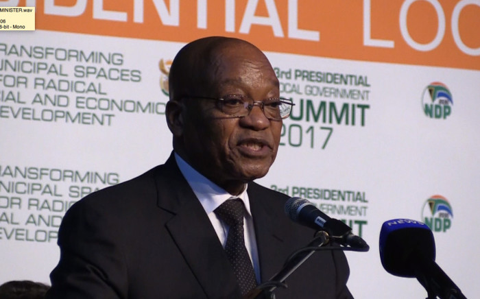 President Jacob Zuma at the Local Government Summit in Midrand. Picture: Kgothatso Mogale/EWN