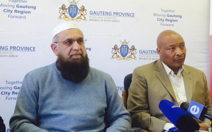 FILE: Gauteng Transport MEC Ismail Vadi. Picture: EWN