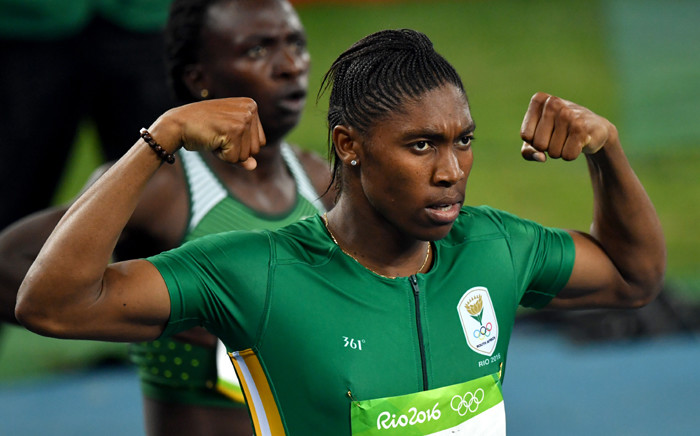 South Africa's Caster Semenya celebrates after she won the Women's 800m Final during the athletics event at the Rio 2016 Olympic Games at the Olympic Stadium in Rio de Janeiro on 20 August, 2016. Picture: AFP.
