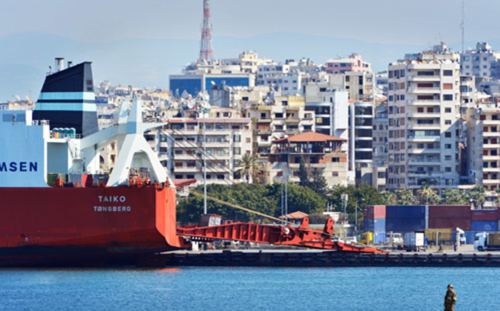 FILE: The cargo vessel Taiko that will be loaded with Syria's chemical agents at the Syrian port of Latakia before their transfer out of the country for destruction. Picture: AFP.