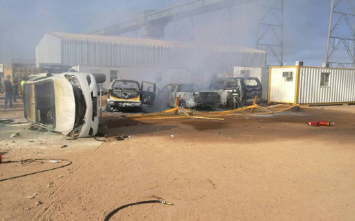 Violent strike action erupted at the Medupi power plant in Limpopo on 24 July 2013. Picture: iWitness