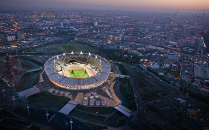 An aerial view of the Olympic Stadium in London. Picture: LOCOG