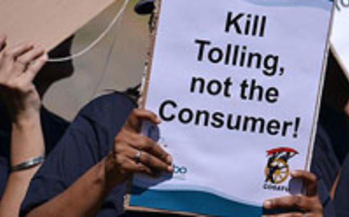 Cosatu protester in Pretoria on 25 April 2012. Picture: Taurai Maduna/EWN