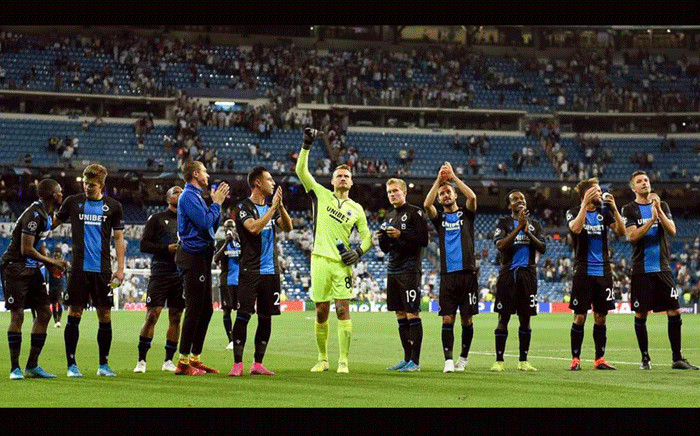 Club Bruges players. Picture: @ClubBrugge/Twitter.