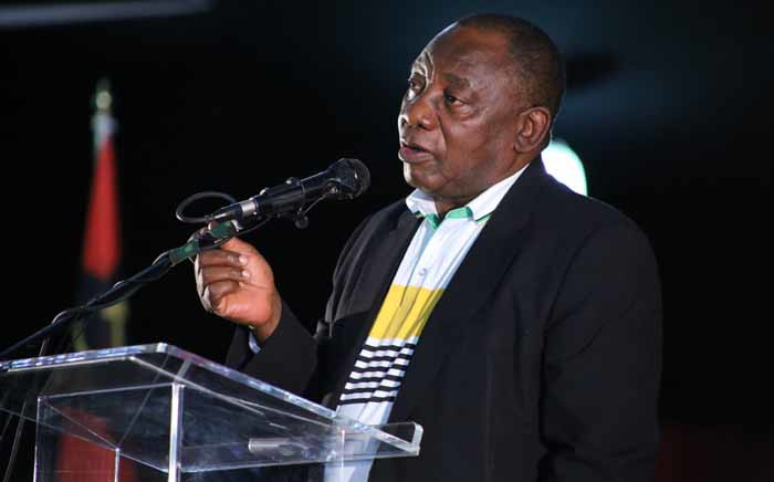 ANC Deputy President Cyril Ramaphosa speaking at the SACP's 14th National Congress in Boksburg on 12 July 2017. Picture: Twitter/@SACP1921