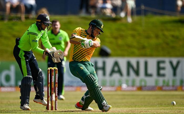 South Africa's David Miller in action against Ireland in their Twenty20 international match on 22 July 2021. Picture: @cricketireland/Twitter