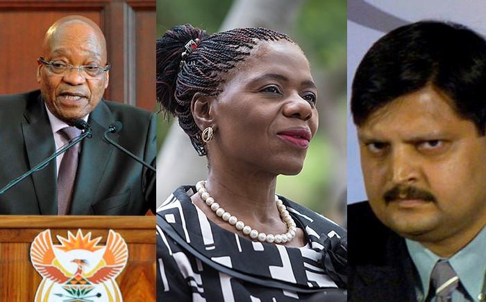 FILE: President Jacob Zuma, Advocate Thuli Madonsela and Atul Gupta. Picture: EWN.