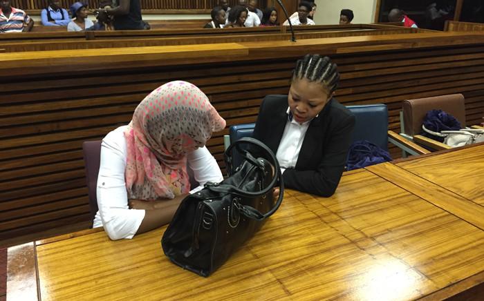 Sindisiwe Manqele, who's accused of killing her rapper boyfriend Nkululeko 'Flabba' Habedi, sits in court ahead of her sentencing on 9 December 2015. Picture: Christa Eybers/EWN.