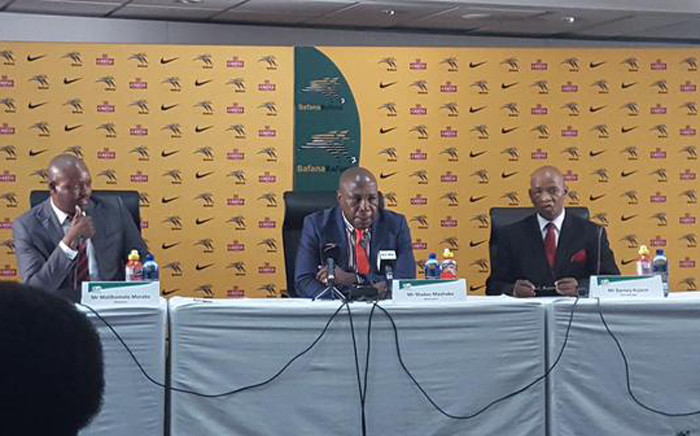 Bafana Bafana coach Shakes Mashaba during his squad selection in Johannesburg on 20 August 2015. Picture: Morena Mothupi/EWN.