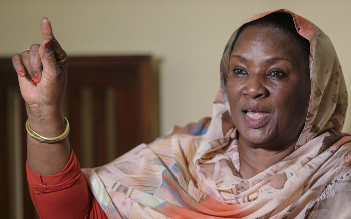 Sudanese activist Zeineb Badreddine talks to AFP during an interview at her home in Omdurman, near the capital Khartoum, on 7 March 2020. Picture: AFP.