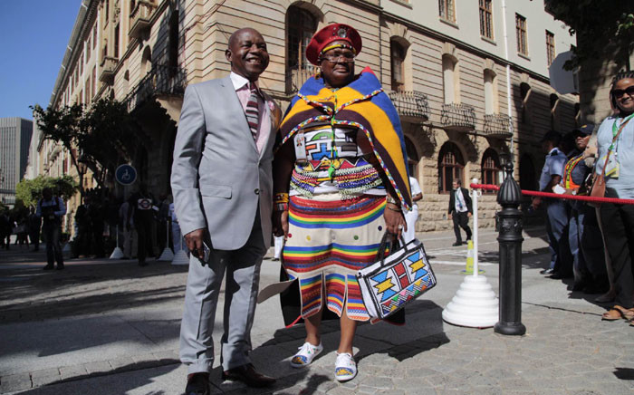 ANC MP Siphosezwe & his wife Ninini Masango arrive for the 2016 State of the Nation Address, 11 February. Picture: Aletta Harrison/EWN