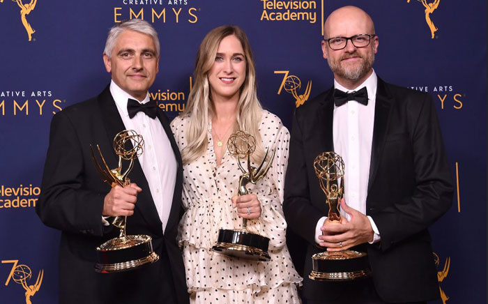 The prosthetic make-up team from the show 'Game Of Thrones' poses in the press room at the 2018 Creative Arts Emmy Awards at Microsoft Theater on 8 September 2018 in Los Angeles, California. Picture: Alberto E. Rodriguez/Getty Images/AFP