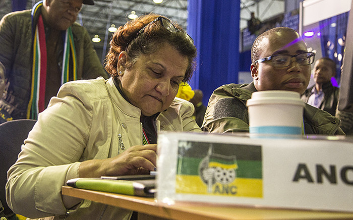 ANC deputy secretary-general Jessie Duarte crunches numbers as results continue to trickle in at the IEC national results centre in Pretoria on 4 August 2016. Picture: Reinart Toerien/EWN