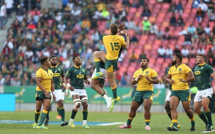 Springboks vs Wallabies on 29 September 2018. Picture: @Springboks/Twitter.