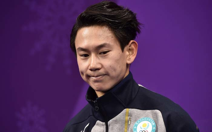 FILE: In this file photo taken on 16 February 2018 Kazakhstan's Denis Ten reacts after competing in the men's single skating short program of the figure skating event during the Pyeongchang 2018 Winter Olympic Games at the Gangneung Ice Arena in Gangneung. Two men accused of killing Kazakhstan's figure skater who won bronze at the Sochi Winter Olympics in 2014, Denis Ten, were sentenced on 17 January 2019 to 18 years in prison. A local court found Arman Kudaibergenov and Nurali Kiyasov guilty of killing Ten, 25, while attempting to steal mirrors from his car last July, according to an AFP journalist in the courtroom. Picture: AFP