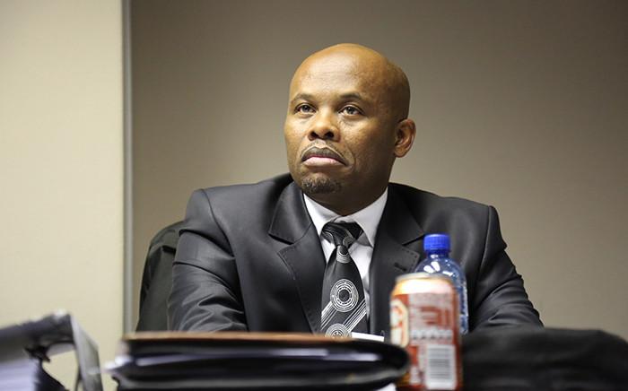 Gauteng Hawks boss Shadrack Sibiya at a disciplinary hearing which started in Pretoria on 10 June 2015. Picture: Reinart Toerien/EWN.
