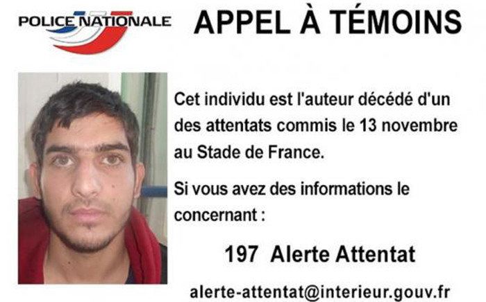 Greek police have released a statement on the Paris attacker, Ahmad al-Mohammad, who they believe had some help travelling to France. Picture: French Police Nationale.