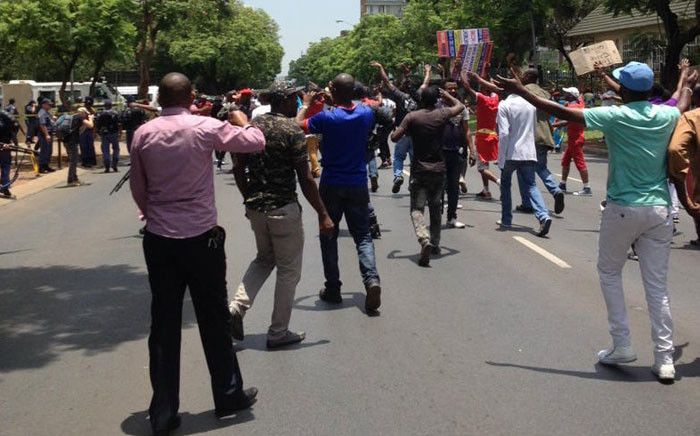 Almost 200 Congolese nationals protested at the Democratic Republic of Congo embassy in Pretoria as part of a worldwide protest by Congolese nationals at embassies calling on their President Joseph Kabila to step down. Picture: ER24.
