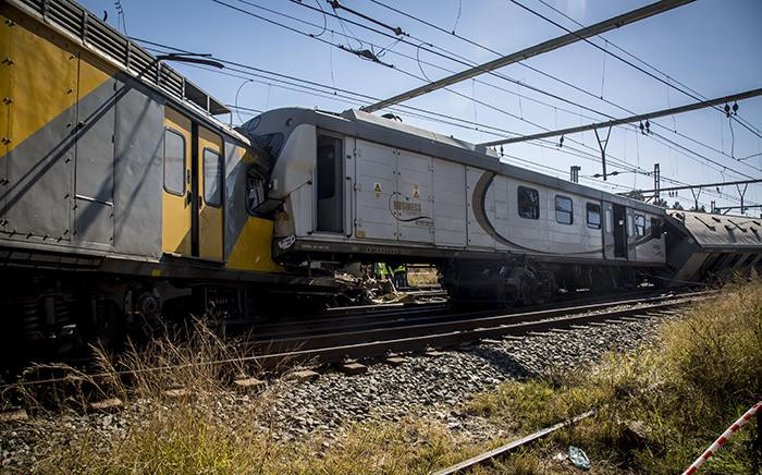 FILE: A train collision near the Elandsfontein station in Johannesburg. Picture: EWN