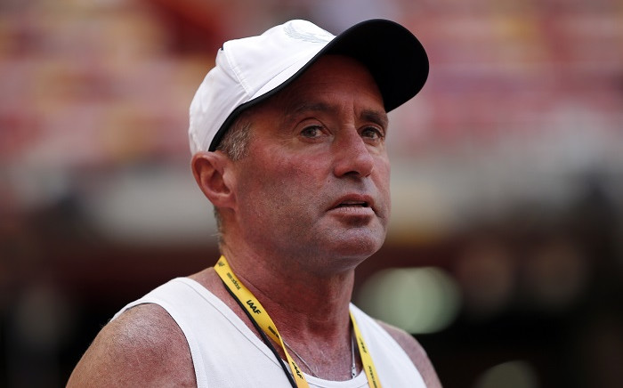 """FILE: In this file photo taken on 21 August 2015 Cuban-American coach Alberto Salazar attends a practice session ahead of the 2015 IAAF World Championships at the """"Bird's Nest"""" National Stadium in Beijing. Picture: AFP"""
