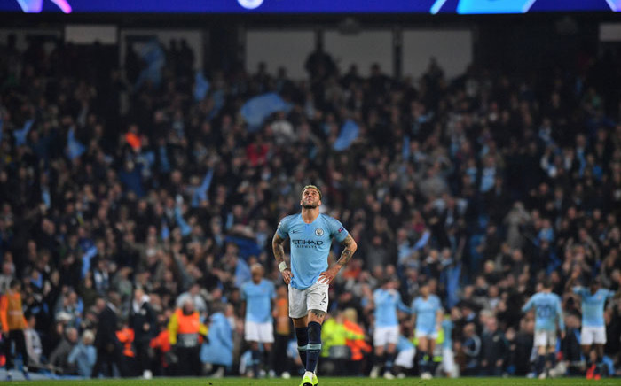 FILE: Manchester City defender Kyle Walker reacts to his side's UEFA Champions League exit after the quarterfinal second-leg football match against Tottenham Hotspur at the Etihad Stadium in Manchester, north-west England on 17 April 2019. Picture: AFP