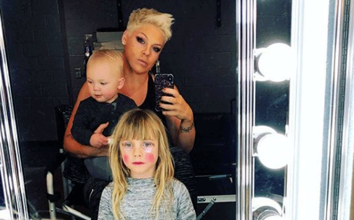 Artist Pink with her daughter Willow Sage Hart and son Jameson Moon Hart. Picture: @p!nk/instagram.com