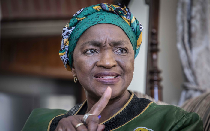 Former cabinet minister Bathabile Dlamini chats to EWN a day after she resigned as a member of Parliament. Picture: Abigail Javier/Eyewitness News