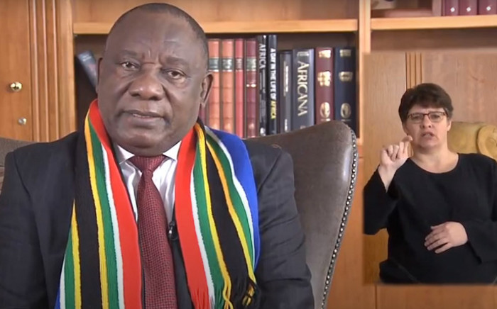 President Cyril Ramaphosa delivers a virtual Freedom Day message.