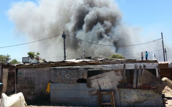 Valhalla Park homes on fire. Picture: Supplied