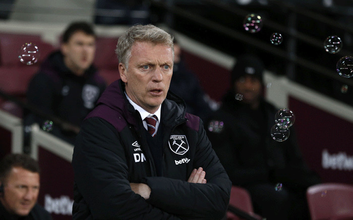 FILE: West Ham United's Scottish manager David Moyes gestures during the English Premier League football match between West Ham United and Leicester City at The London Stadium, in east London on 24 November 2017. Picture: AFP