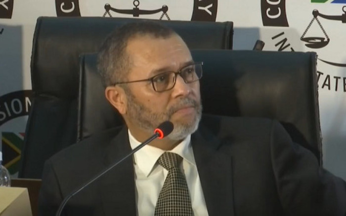 A screengrab shows ANC MP Cedrick Frolick at the state capture inquiry on 2 October 2020. Picture: SABC/YouTube