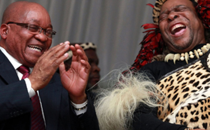FILE: President Jacob Zuma and Zulu King Goodwill Zwelithini. Picture: Supplied