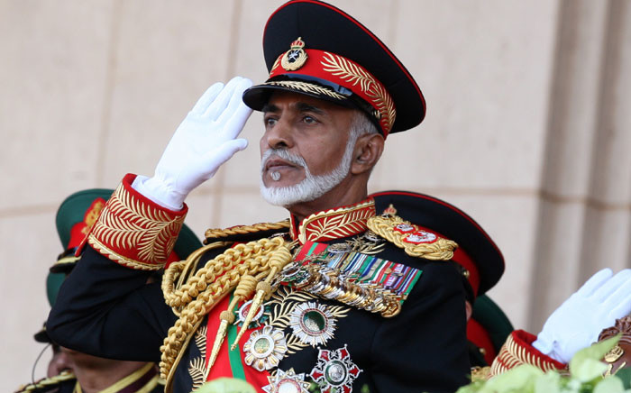 In this file photo taken on 29 November 2010, Oman's Sultan Qaboos bin Said salutes at the start of a military parade at a stadium in Muscat on the occasion of the Sultanate's 40th National Day. Picture: AFP
