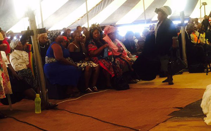 The family of the three victims, alleged to have been murdered by relatives in Katlehong, arrive at their memorial service. Picture: Dineo Bendile/EWN