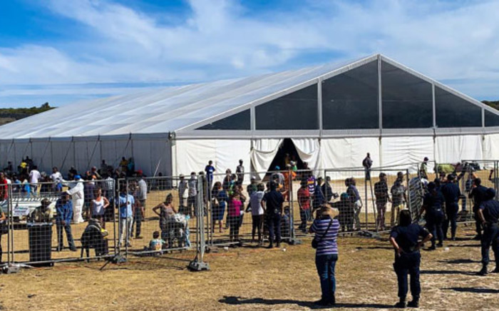 The Strandfontein site, in Cape Town, which is housing homeless people during the COVID-19 lockdown. Picture: Kaylynn Palm/EWN.