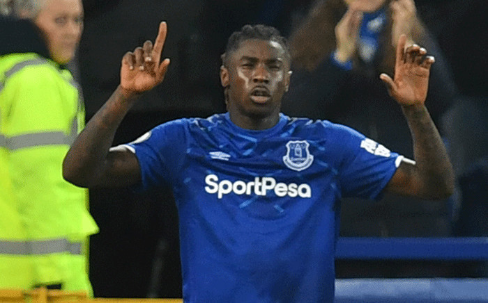 Everton's Italian midfielder Moise Kean celebrates scoring the opening goal during the English Premier League football match between Everton and Newcastle United at Goodison Park in Liverpool, north west England on January 21, 2020. Picture: AFP