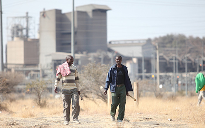 FILE: Mine workers in Marikana. Picture: EWN