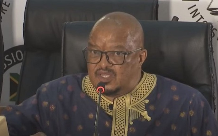 A screenshot of former Denel head of supply chain Dennis Mlambo testifying at the Zondo Inquiry on Tuesday, 27 October 2020. Picture: SABC Digital News/ Youtube