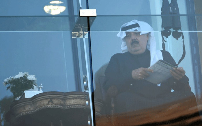 Prince Miteb bin Abdullah whose father, the late king Abdullah, founded the Equestrian Club of Riyadh, sits at the clubhouse during a horse racing event at the King Abdulaziz Racetrack in the capital Riyadh on 11 November, 2016. Picture: AFP.