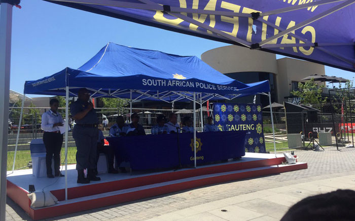 SAPS launched the provincial leg of the Operation Back2Basics, a festive season safety campaign. Picture: Clement Manyathela/EWN.