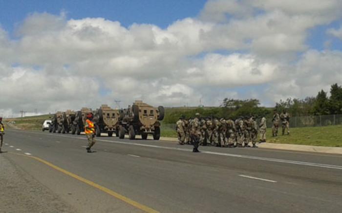 Heavy military presence outside Former President Nelson Mandela's Qunu home in the Eastern Cape. Picture: SAPA
