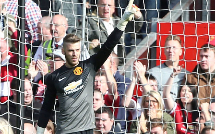 Manchester United goalkeeper David de Gea in action against Everton in the English Premier League on 5 October 2014. Picture: Facebook.com.