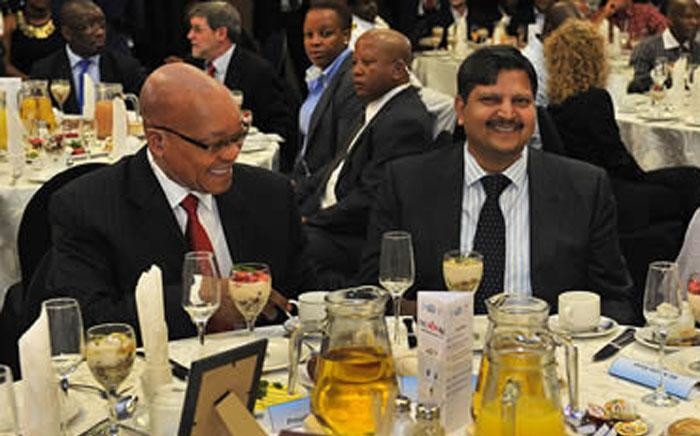 FILE: President Jacob Zuma and Atul Gupta at a New Age business breakfast in Port Elizabeth on 16 March 2012. Picture: The Presidency