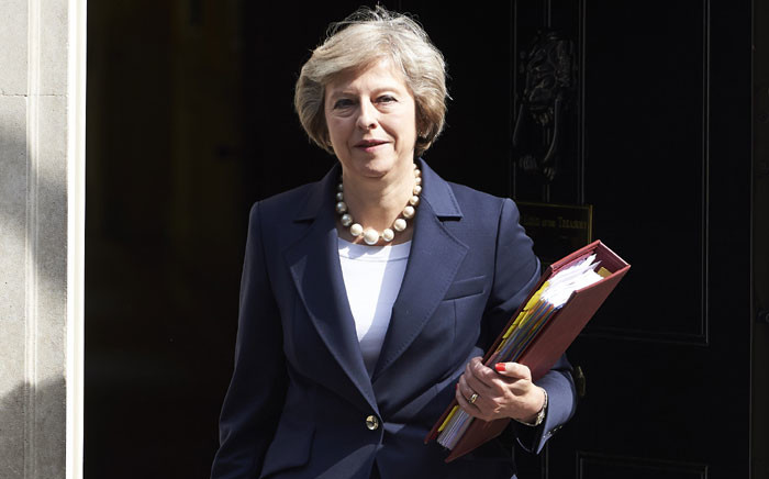 British Prime Minister Theresa May leaves 10 Downing street in London on 20 July 20 2016 on her way to the House of Commons to face her first session of Prime Ministers Questions. Picture: Niklas Halle'n/AFP.
