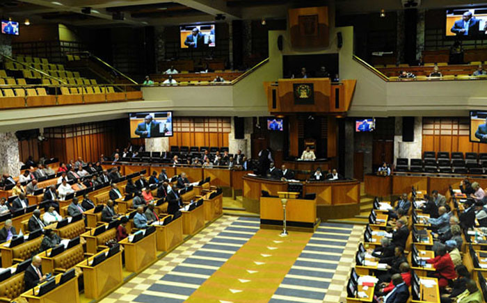 Deputy President Cyril Ramaphosa answers question in National Assembly. Picture: GCIS.