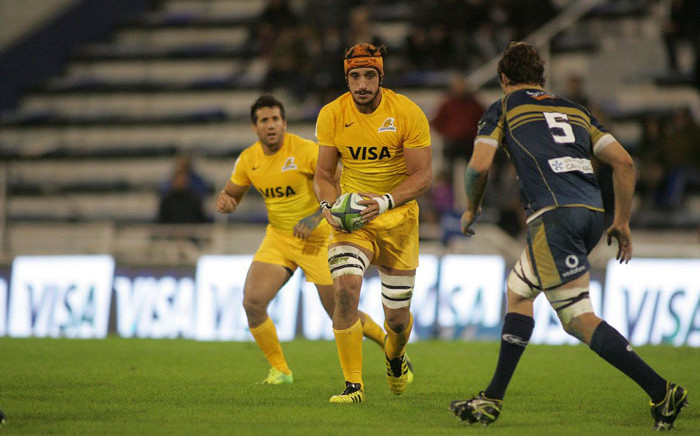 Tomas Lavanini in action for the Jaguares. Picture: @Tomaslavanini/Twitter