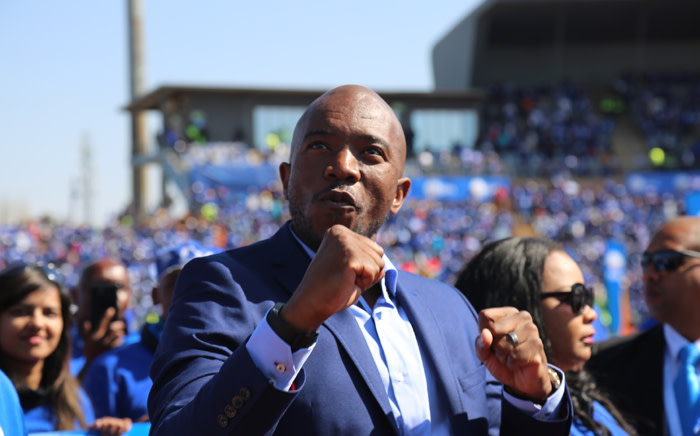 Democratic Alliance leader Mmusi Maimane at the party's closing elections rally at the Dobsonville Stadium on 30 July 2016. Picture: Christa Eybers/EWN.